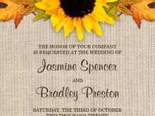 Wedding Invitation Templates Yellow