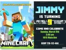 55 Best Minecraft Party Invitation Template Templates for Minecraft Party Invitation Template