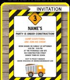 55 Free Birthday Invitation Templates Construction With Stunning Design by Birthday Invitation Templates Construction