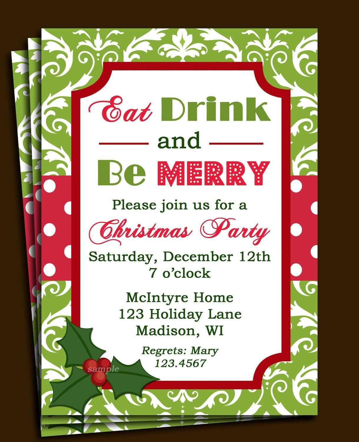 25 Standard Christmas Party Invitation Letter Template in Word for For Free Christmas Invitation Templates For Word