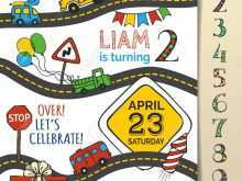 Birthday Invitation Template Cars