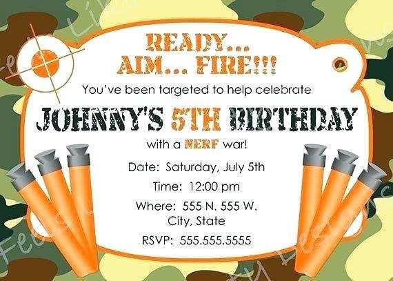 57 adding nerf gun party invitation