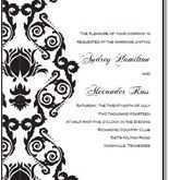 Party Invitation Templates Black And White