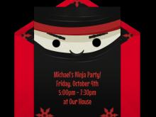 58 Blank Ninja Party Invitation Template Free Download for Ninja Party Invitation Template Free