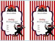 Ninja Party Invitation Template Free