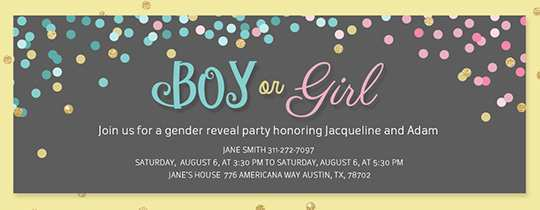 58 The Best Blank Gender Reveal Invitation Template For Free for Blank Gender Reveal Invitation Template