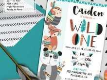 Wild One Birthday Invitation Template Free