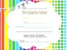 59 Customize Rainbow Party Invitation Template in Word for Rainbow Party Invitation Template