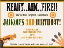 59 Format Free Nerf Birthday Party Invitation Template Layouts with Free Nerf Birthday Party Invitation Template