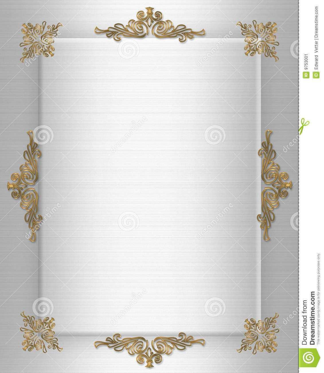 Elegant Invitation Border Designs - Cards Design Templates