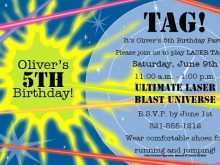 Laser Tag Birthday Invitation Template