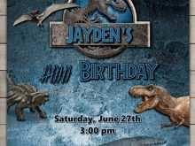 Jurassic Park Birthday Invitation Template