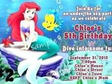 62 Best Ariel Birthday Invitation Template Download by Ariel Birthday Invitation Template