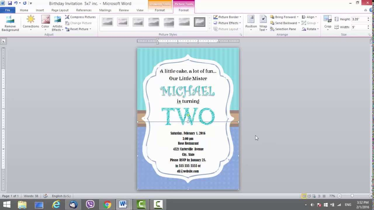 62 Creating Birthday Invitation Template In Word Now for Birthday Invitation Template In Word