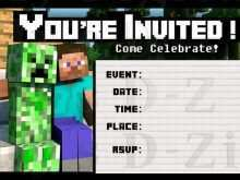 62 Customize Our Free Blank Minecraft Invitation Template Now for Blank Minecraft Invitation Template