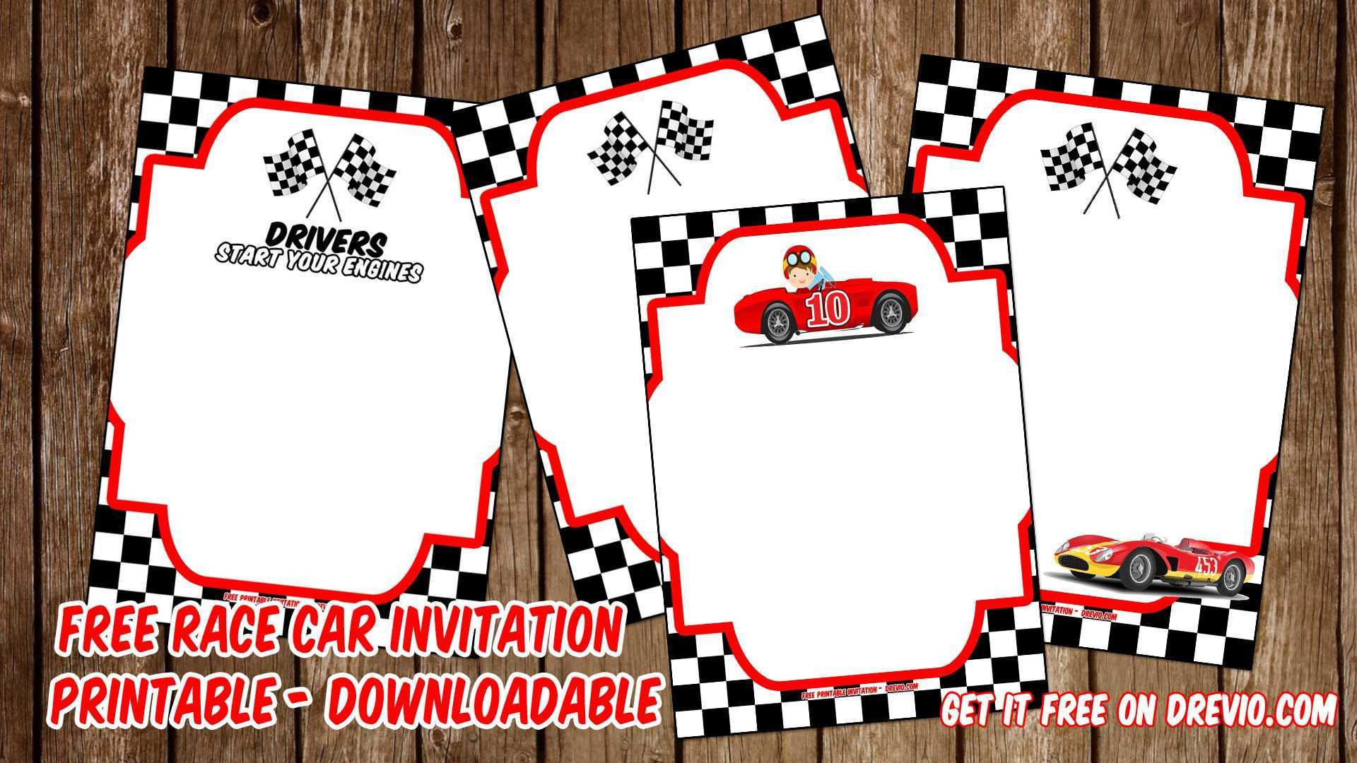 63 Create Birthday Invitation Template Cars Photo for Birthday ...