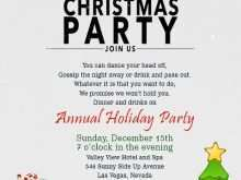 63 Creating Annual Holiday Party Invitation Template Photo for Annual Holiday Party Invitation Template
