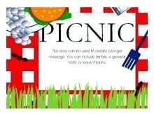 63 Customize Blank Picnic Invitation Template in Photoshop with Blank Picnic Invitation Template