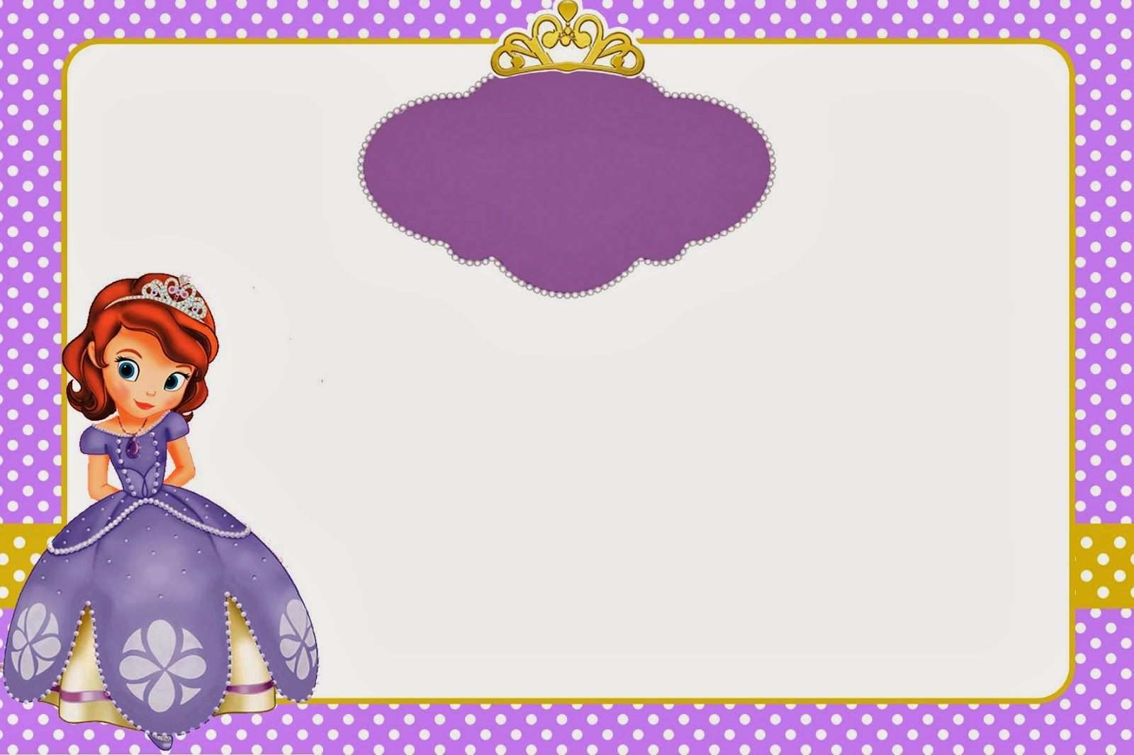 5 Online Sofia The First Invitation Blank Template Now by Sofia