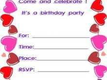 Kitty Party Invitation Template Free