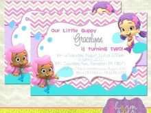 64 Customize Our Free Blank Bubble Guppies Invitation Template Photo for Blank Bubble Guppies Invitation Template