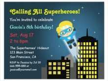 64 Free Printable Birthday Invitation Template Superhero Layouts with Birthday Invitation Template Superhero