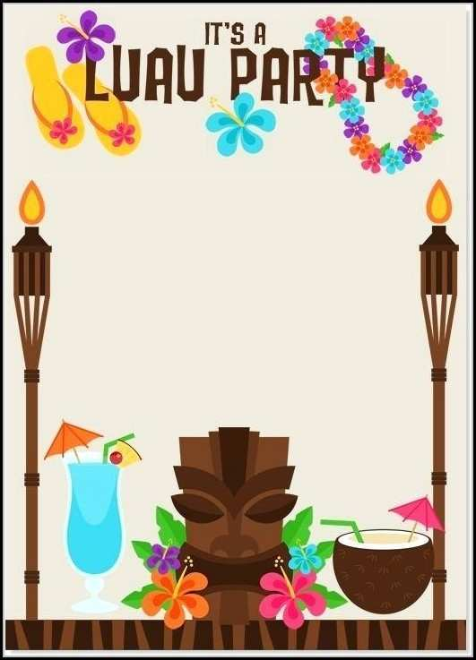 64 Report Blank Luau Invitation Template Now for Blank Luau Invitation Template