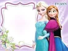 64 Standard Frozen Birthday Invitation Blank Template Templates for Frozen Birthday Invitation Blank Template