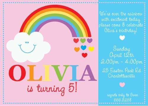 65 Customize Our Free Rainbow Party Invitation Template PSD File for Rainbow Party Invitation Template