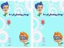 65 Format Blank Bubble Guppies Invitation Template in Word for Blank Bubble Guppies Invitation Template