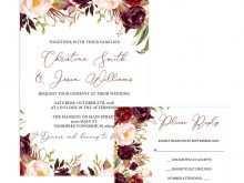 66 Customize Marsala Wedding Invitation Template With Stunning Design with Marsala Wedding Invitation Template