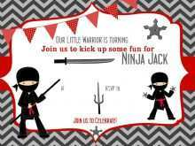 66 Customize Our Free Ninja Party Invitation Template Free in Photoshop with Ninja Party Invitation Template Free