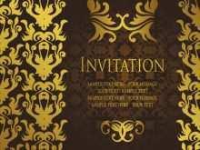Formal Invitation Template Illustrator