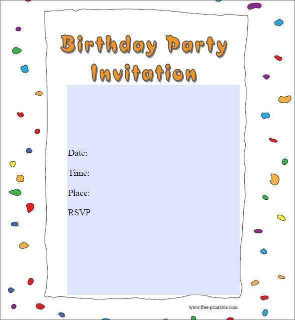 67 Customize Birthday Invitation Template Online for Ms Word with Birthday Invitation Template Online