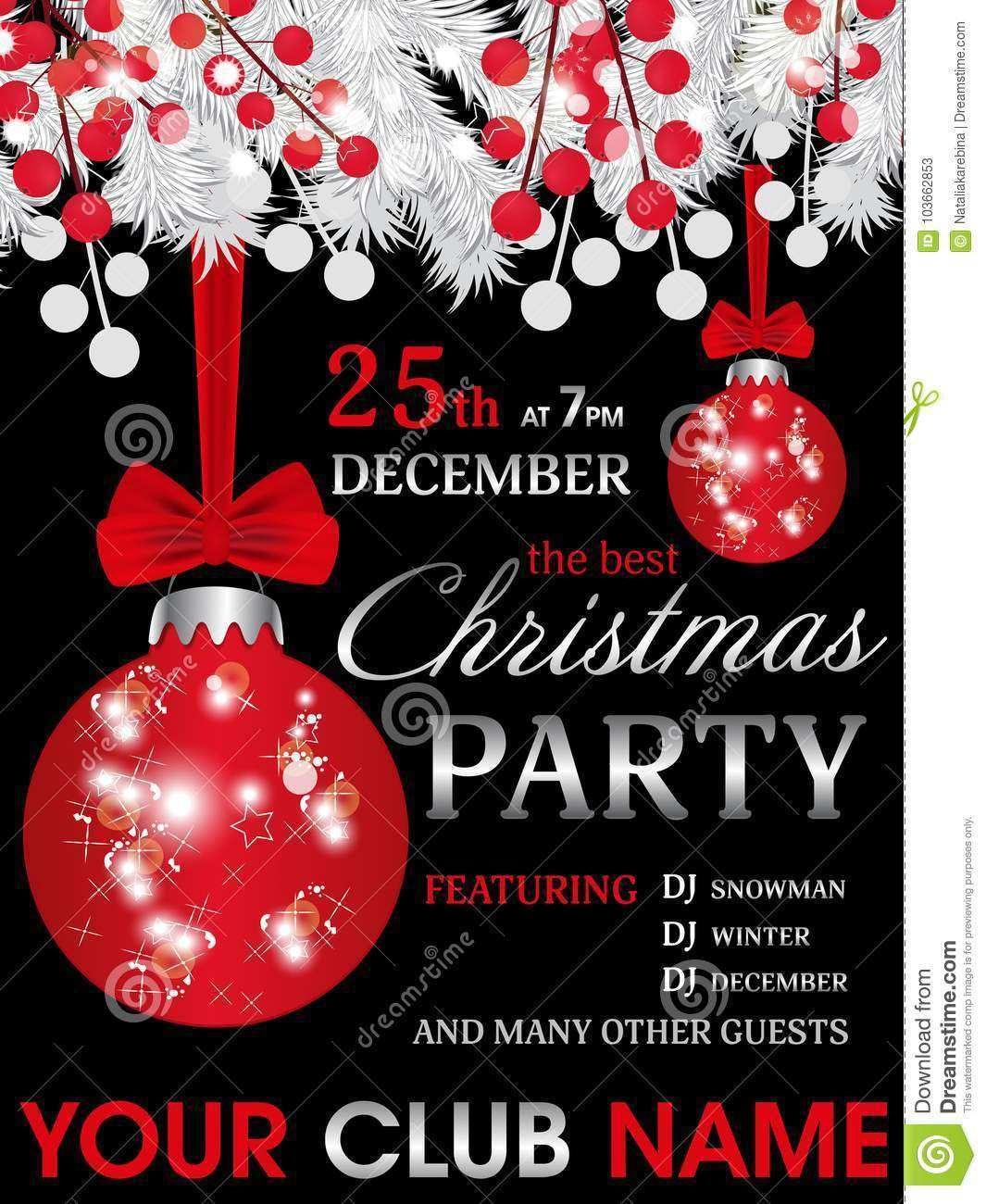 67 Customize Christmas Party Invitation Template Black And White for Ms Word for Christmas Party Invitation Template Black And White