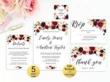 67 Online Marsala Wedding Invitation Template Formating by Marsala Wedding Invitation Template