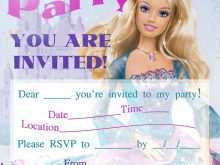 Editable Barbie Invitation Template Blank