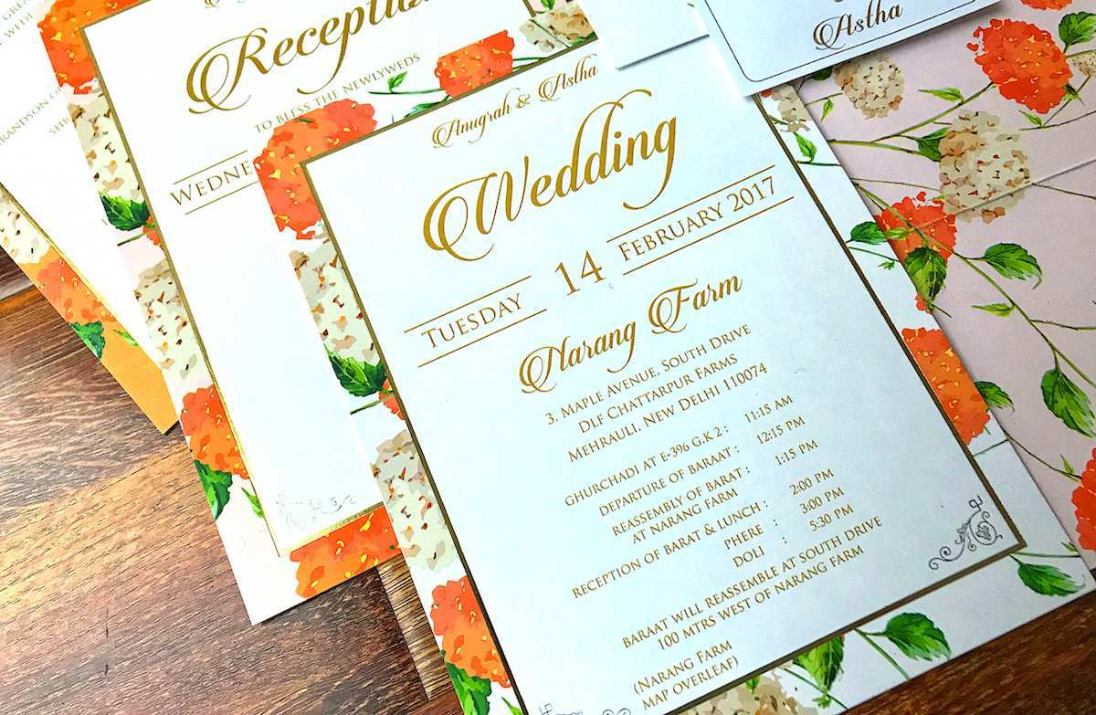 Insert For Wedding Invitation Template - Cards Design ...