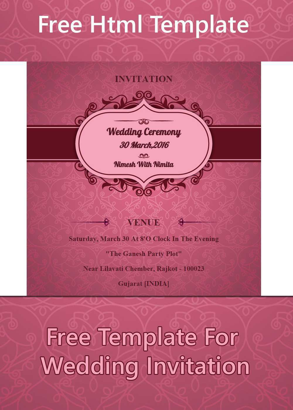 5 The Best Party Invitation Html Template PSD File with Party