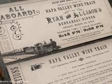 Vintage Train Ticket Wedding Invitation Template