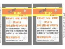 69 Standard Free Nerf Birthday Party Invitation Template for Ms Word by Free Nerf Birthday Party Invitation Template