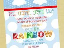 70 Printable Rainbow Party Invitation Template Maker with Rainbow Party Invitation Template
