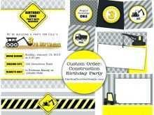 71 Best Birthday Invitation Templates Construction PSD File with Birthday Invitation Templates Construction