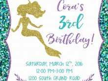 71 Blank Ariel Birthday Invitation Template Templates with Ariel Birthday Invitation Template