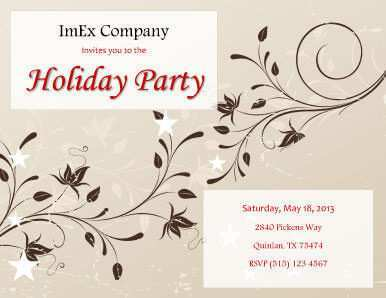 71 Customize Our Free Office Party Invitation Template Editable Layouts for Office Party Invitation Template Editable