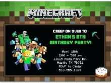 71 Standard Minecraft Party Invitation Template Download with Minecraft Party Invitation Template