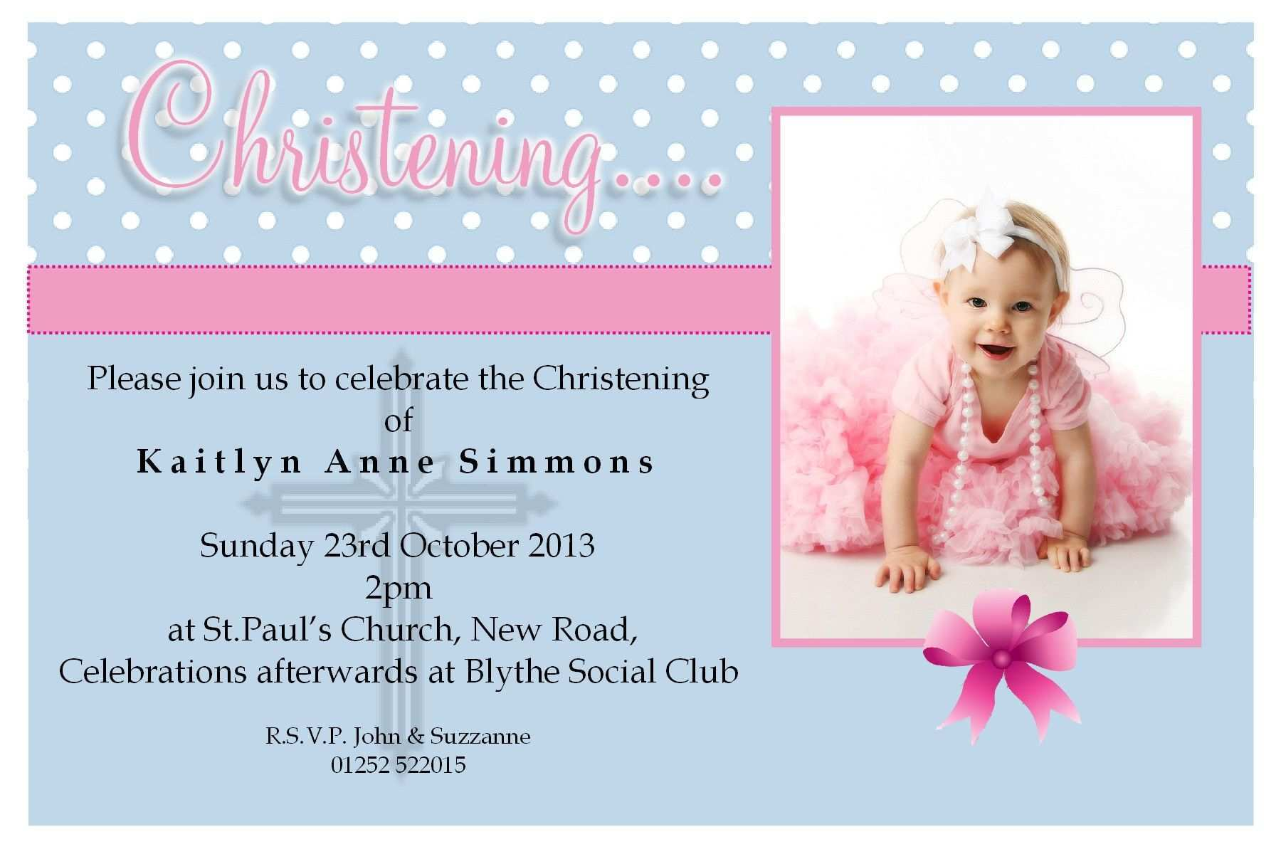 4 How To Create Editable Christening Invitation For Baby Girl