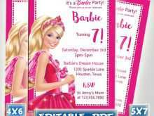 72 Report Barbie Invitation Template Blank PSD File for Barbie Invitation Template Blank