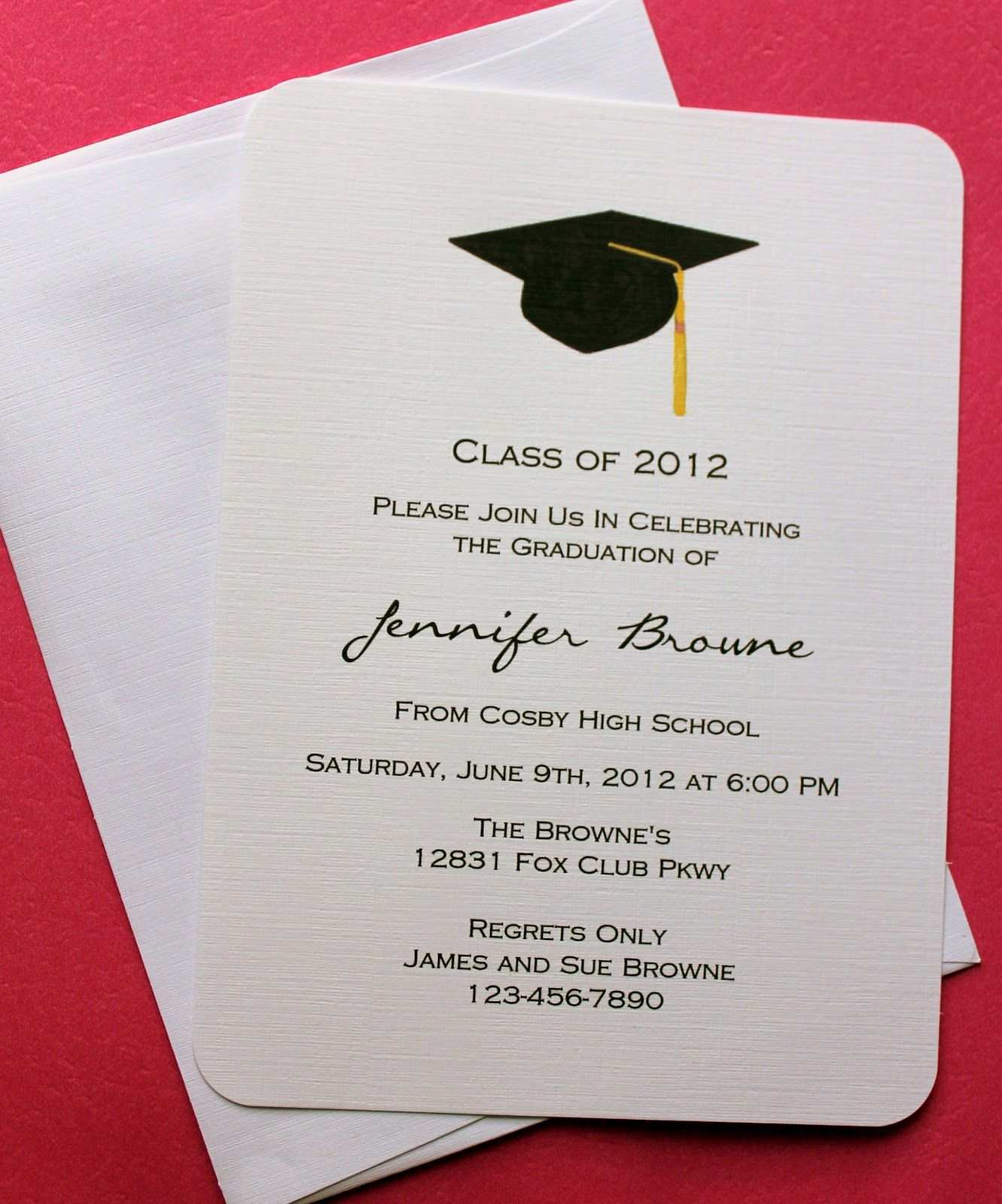 21 Best Graduation Invitation Card Example Layouts by Graduation With Regard To Free Graduation Invitation Templates For Word