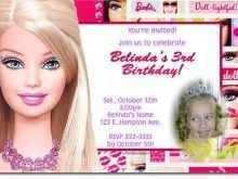 74 Blank Barbie Invitation Template Blank Layouts with Barbie Invitation Template Blank